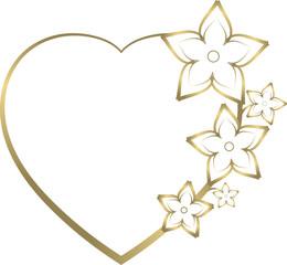 fioriture cœur or