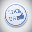 Like Us - Vector Button Badge