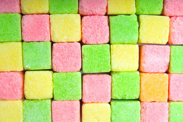 Multicolor sugar lumps background