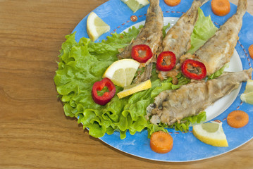 Fried sardines with Vegetables