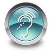 "Light Blue Glossy Pictogram ""Hearing Impairment"""