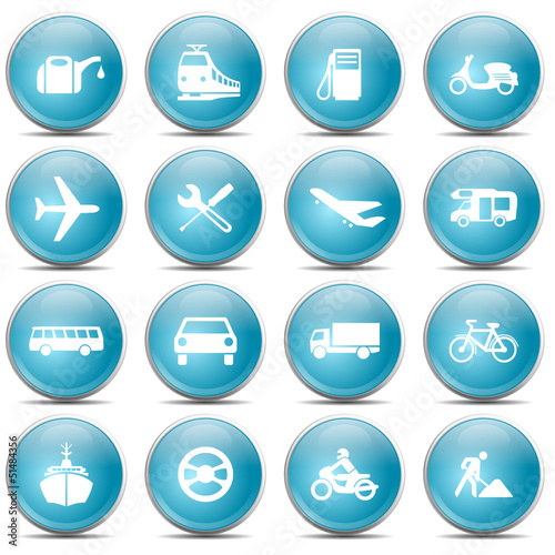 Blue Icons Traffic