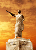 Statue of Roman senator with the sun