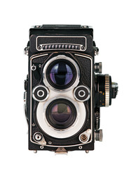 Twin lens reflex photo camera