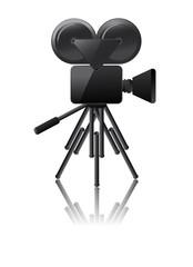 cinema camera icon on a white background