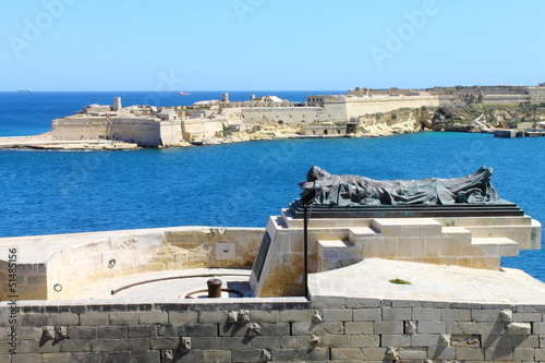View from the Upper Barracca Gardens in Valletta, Malta