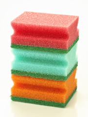 scourers stacked white base colors
