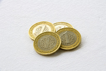 Coins one liras