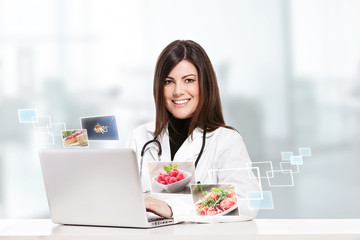 Female nutritionist