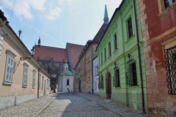 Old colored street in Bratislava