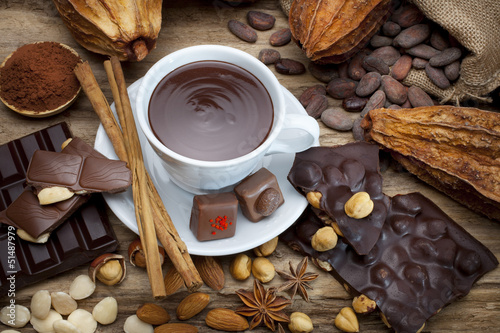 still life of chocolate cup