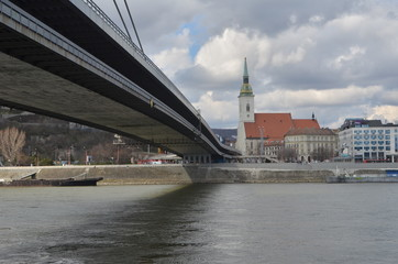 View of Saint Martin's Cathedral from the Danube riverside