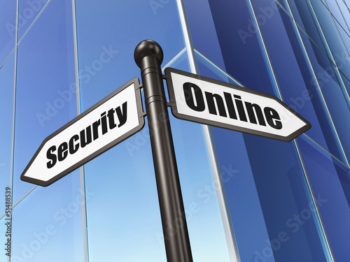 Security concept: Online Security on Business Building backgroun