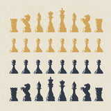 Chess figures set. Vector, EPS10