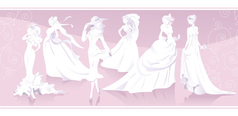 Brides figures and silouettes