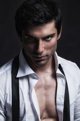 Handsome Male Model Posing.