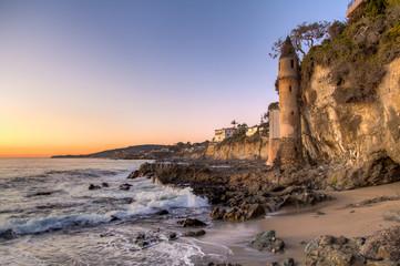 California coastline in Laguna Beach