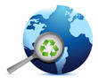 earth recycle earth lifeline illustration design