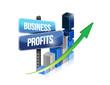 graph business profits sign
