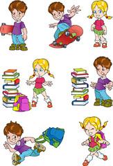 Characters. Schoolchild