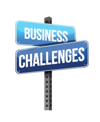 business challenges sign