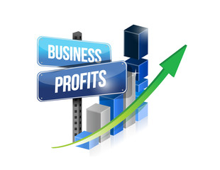 graph business profits sign