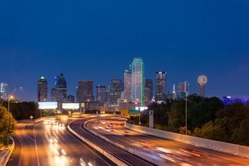 Dallas downtown skyline at night, Texas