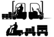 Logistic equipment silhouettes