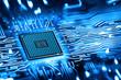 Leinwandbild Motiv integrated microchip