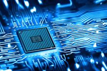 "Постер, картина, фотообои ""integrated microchip"""