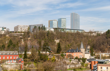 View of European institutions buildings - Luxembourg city
