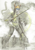 Greek myth and legends (Full sized hand drawing) - Talos