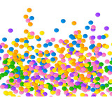 Colorful vector confetti on blue background