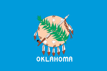 Flag of the American State of Oklahoma