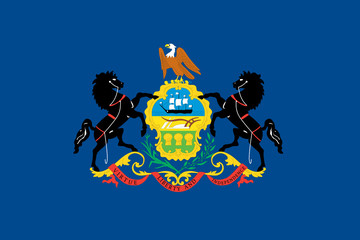 Flag of the American State of Pennsylvania
