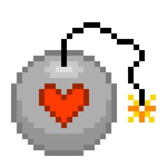 8-bit pixel love bomb