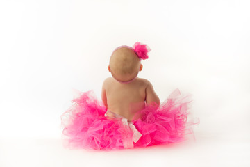 Chubby Baby Ballerina From Behind
