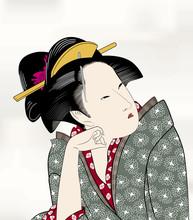 Edo Ukiyo Hui schöne Malerei 15