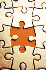Gap in jigsaw puzzle