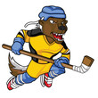 Honey Bagder Hockey Mascot