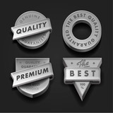 Set premium quality and guarantee labels,vector Eps10 image.