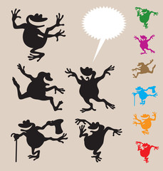 Frog Dancing Silhouettes 2
