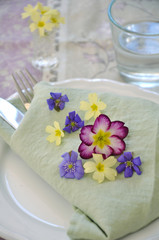 Frühling Tischdekoration