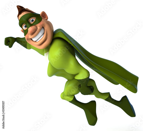 Green superhero