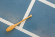 Wooden pin on a court