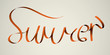 'summer' handmade calligraphy, vector EPS10