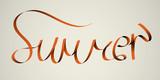 'summer' handmade calligraphy, vector EPS10