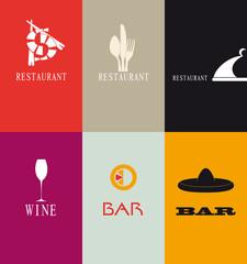Biglietti da visita per ristorante e bar