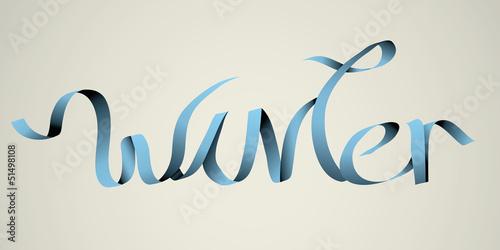 'winter' handmade calligraphy, vector EPS10