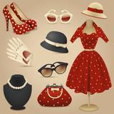 Lady retro fashion accessories - 51498337